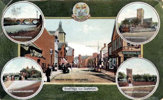 A postcard Of Castleford