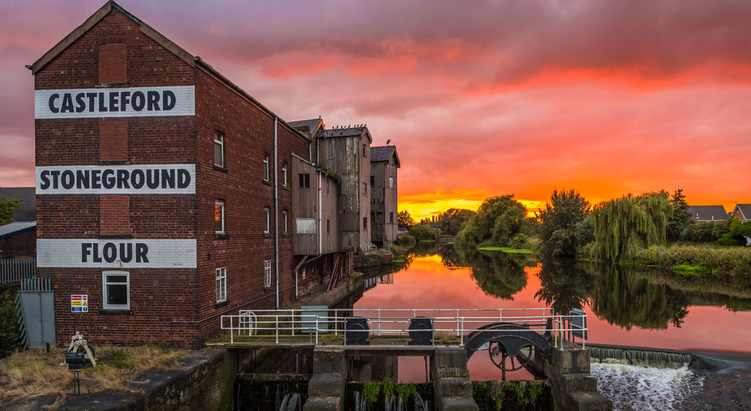 Sunset At The Mill by Lee Crowther