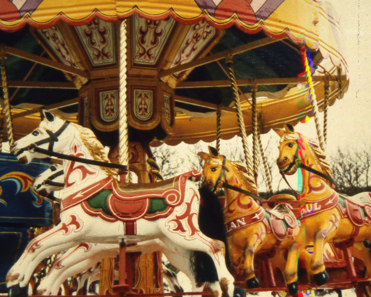 The carousel in its heyday